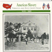 1995 Atlas, Civil War Cards, #51.18 Slavery, Hopkinson Plantation, Edisto