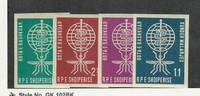 Albania, Postage Stamp, #609-612 Imperf Mint Hinged, 1962 Malaria, JFZ