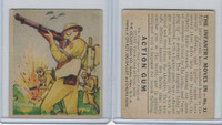 R1 Goudey, Action Gum, 1938, #11 The Infantry Moves In