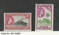 Solomon Islands, Postage Stamp, #101-102 Mint NH, 1956, JFZ
