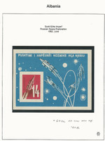 Albania, Postage Stamp, #624a VF Imperf Sheet Mint NH, 1962 Space, JFZ