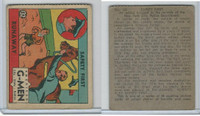 R13 Strip Card, American G-Men, 1930's, #132 Runaway (B)