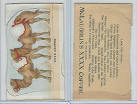 K69 McLaughlin Coffee, Die Cut Designs, 1890, Circus, Camel (B)