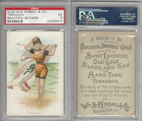 N192 Kimball, Beautiful Bathers Large, 1891, Trouville, PSA 5 EX