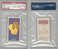 B0-0 Barratt, Walt Disney Characters, 1957, #14 Peg Dog, PSA 8 NMMT