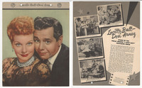 F5-19 Dixie Cup, Premium, 1953, Movie Stars, Lucille Ball & Deci Arnaz