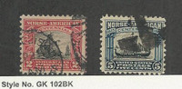 United States, Postage Stamp, #620-621 Used, 1925 Norse, JFZ