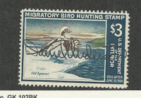 United States, Postage Stamp, #RW34 Used, 1967 Duck Hunting, JFZ