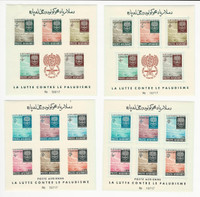 Afghanistan, Postage Stamp, #583a-d Mint NH Sheets Perf & Imperf, 1962, JFZ