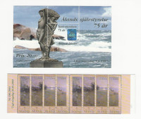 Aland, Postage Stamp, #137 Sheet, 212b Booklet Mint NH, 1997-2003, JFZ