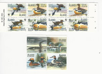 Aland, Postage Stamp, #185e Booklet, 340 Mint NH, 2001-13 Ducks, JFZ