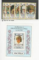 Anguilla, Postage Stamp, #285-491 Mint NH, 1982 Princes Diana, JFZ