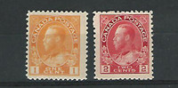 Canada, Postage Stamp, #105-106 Mint Hinged, 1911-22, JFZ