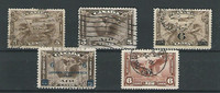 Canada, Postage Stamp, #C1-C5 Used, 1928-35 Airmail, JFZ