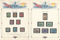 Canada, Postage Stamp, #249-262 Used, 1942-43, JFZ