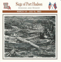 1995 Atlas, Civil War Cards, #52.07 Siege Port Hudson, Louisiana