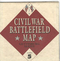 1995 Atlas, Civil War Cards, #5 Battlefield Map, Gettysburg Series