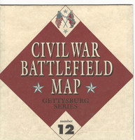 1995 Atlas, Civil War Cards, #12 Battlefield Map, Gettysburg Series