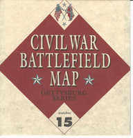1995 Atlas, Civil War Cards, #15 Battlefield Map, Gettysburg Series