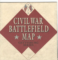 1995 Atlas, Civil War Cards, #Unnumbered Battlefield Map, Gettysburg Series