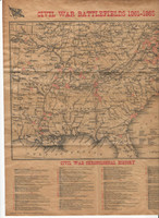 1995 Atlas, Civil War Cards, # Civil War Battlefields Map