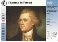 1995 Grolier, Story Of America Card, #01.01 Thomas Jefferson, President