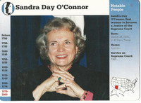 1995 Grolier, Story Of America Card, #01.02 Sandra Day O'Connor, Sup. Court