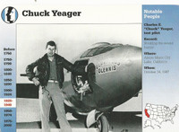 1995 Grolier, Story Of America Card, #01.03 Chuck Yeager, Aviator