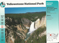 1995 Grolier, Story Of America Card, #01.04 Yellowstone National Park