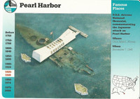 1995 Grolier, Story Of America Card, #01.05 Pearl Harbor, USS Arizona