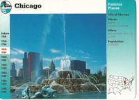 1995 Grolier, Story Of America Card, #01.06 Chicago, Buckingham Fountain
