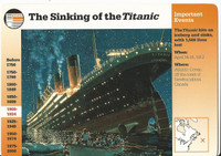 1995 Grolier, Story Of America Card, #01.07 Sinking of the Titanic