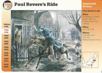 1995 Grolier, Story Of America Card, #01.09 Paul Revere's Ride