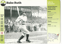 1995 Grolier, Story Of America Card, #01.10 Babe Ruth, Yankees Baseball