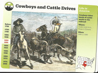 1995 Grolier, Story Of America Card, #01.11 Cowboys & Cattle Drives