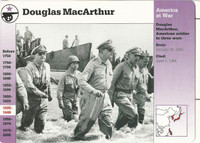 1995 Grolier, Story Of America Card, #01.14 Douglas MacArthur, Philippines