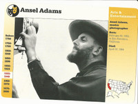 1995 Grolier, Story Of America Card, #30.19 Ansel Adams, Photographer