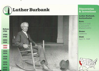 1995 Grolier, Story Of America Card, #30.17 Luther Burbank
