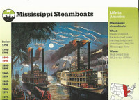 1995 Grolier, Story Of America Card, #30.13 Mississippi Steamboats