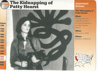 1995 Grolier, Story Of America Card, #30.10 Kidnapping of Patty Hearst