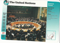 1995 Grolier, Story Of America Card, #30.07 The United Nations