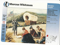 1995 Grolier, Story Of America Card, #30.03 Marcus Whitman
