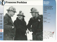 1995 Grolier, Story Of America Card, #30.02 Frances Perkins