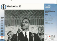 1995 Grolier, Story Of America Card, #30.01 Malcolm X