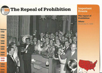 1995 Grolier, Story Of America Card, #31.09 Repeal of Prohibition