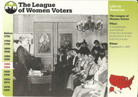 1995 Grolier, Story Of America Card, #31.10 League of Women Voters