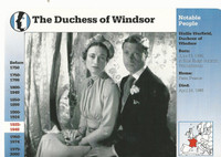 1995 Grolier, Story Of America Card, #119.04 Duchess of Windsor