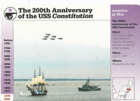 1995 Grolier, Story Of America Card, #119.12 200th Anniversary USS Constitution