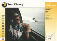 1995 Grolier, Story Of America Card, #119.16 Tom Clancy, Author