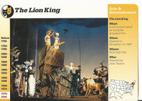 1995 Grolier, Story Of America Card, #119.17 The Lion King